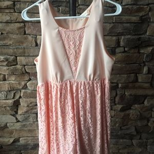 Altar'd State Light Pink and Lace Dress